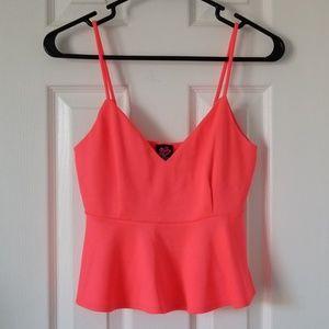 Bebe Hot Pink Crop Top